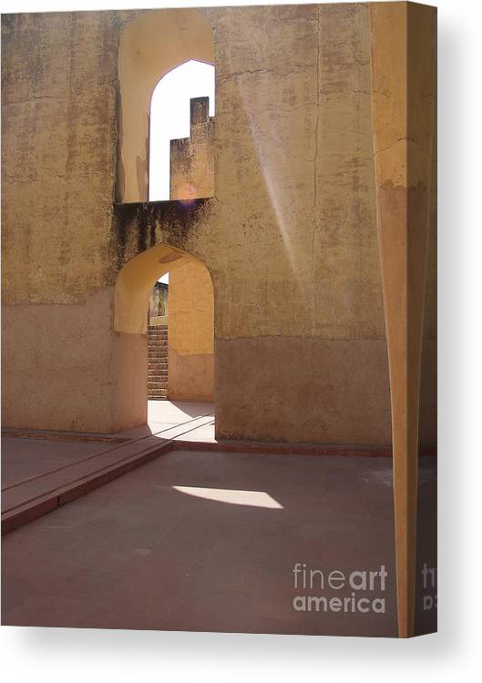 Light Canvas Print featuring the photograph Step Into The Light by Nancy Worrell