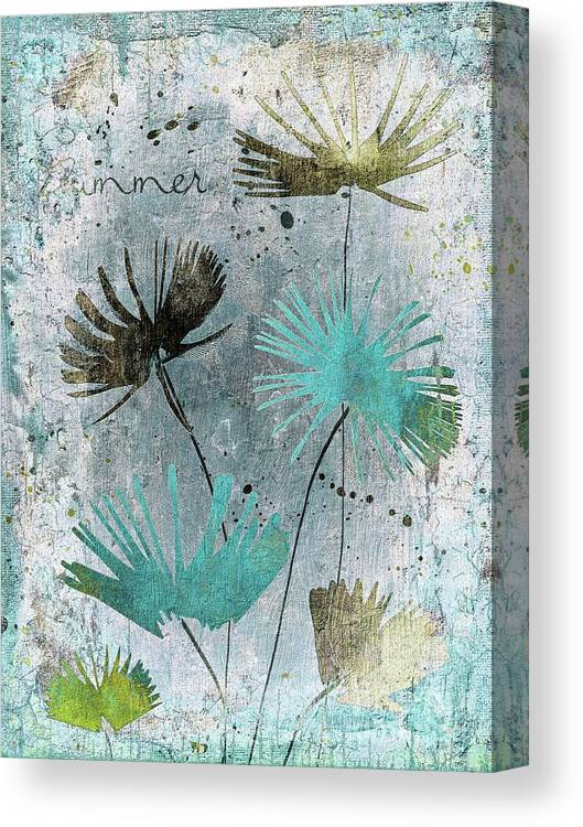 Floral Canvas Print featuring the digital art Summer Joy - 10 by Variance Collections