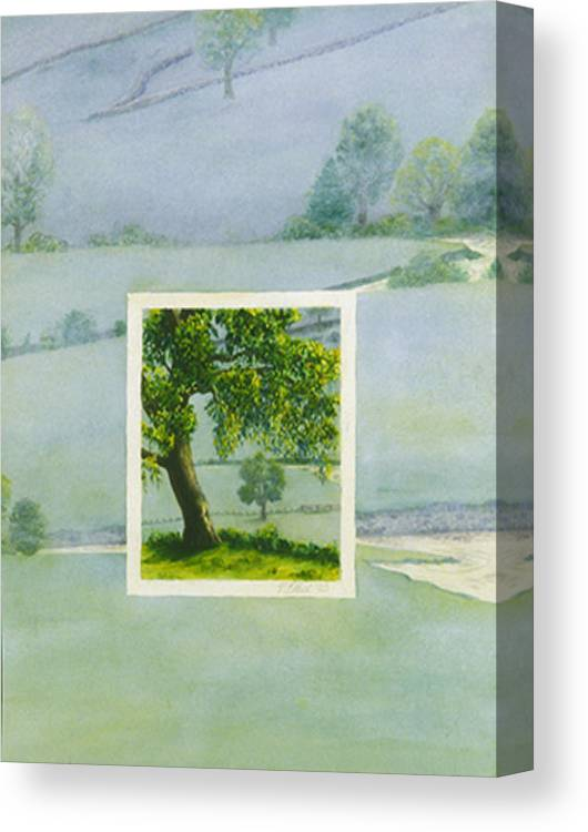 Summer Canvas Print featuring the painting Summer by Nancy Ethiel