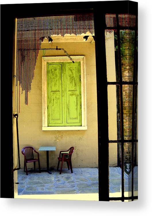 Canvas Print featuring the photograph Table For Two by Ted Hebbler