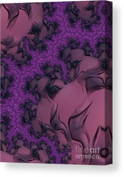 Lavender Canvas Print featuring the digital art The Lavender Forest 2 by Elizabeth McTaggart