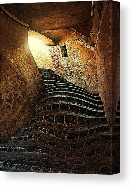 Fine Art Canvas Print featuring the photograph The Light At The End Of The Tunel by Lucian Badea