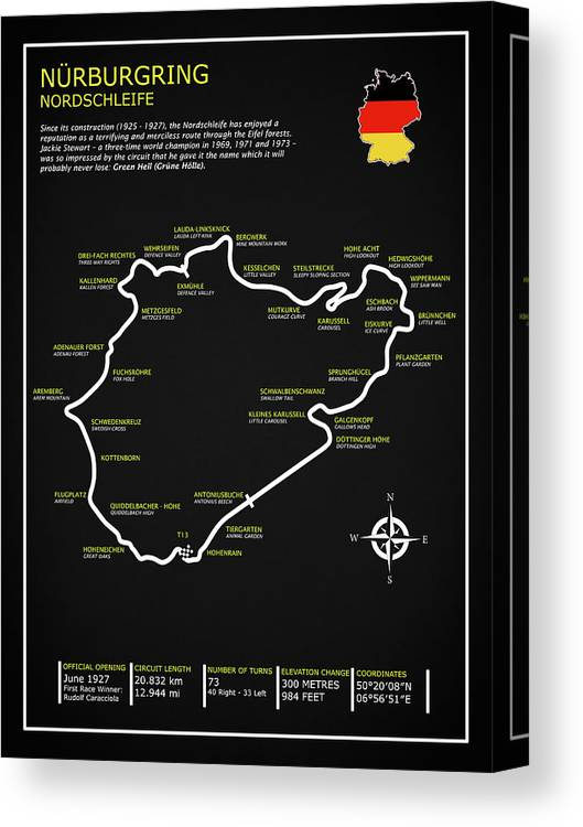 The Nurburgring Nordschleife Canvas Print