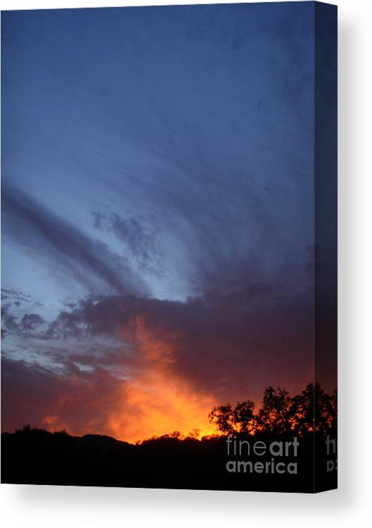 Sunset Canvas Print featuring the photograph The Sky Is On Fire by Cullen Knappen