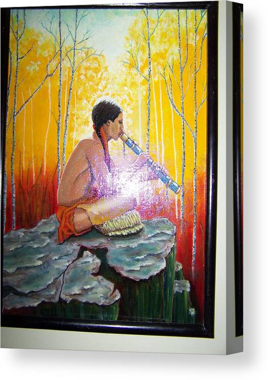 Canvas Print featuring the painting The Spirits Are Present by Charles Vaughn