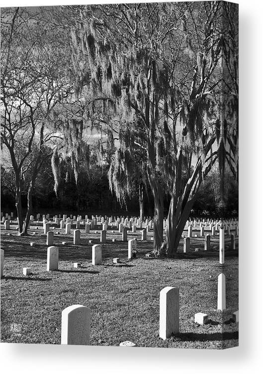 Cemetary Canvas Print featuring the photograph This Is War by Michele Caporaso