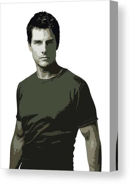 Tom Cruise Canvas Print featuring the digital art Tom Cruise Cutout Art by David Dehner
