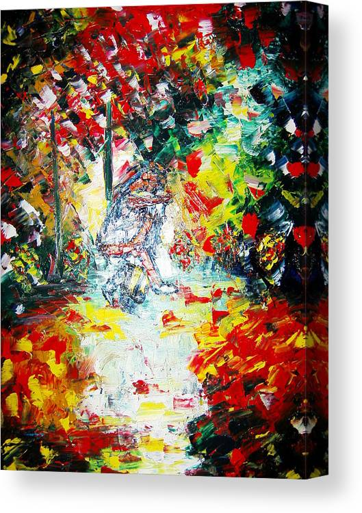 Painting.oil.acrylic Canvas Print featuring the painting True Love by Adeniyi Peter