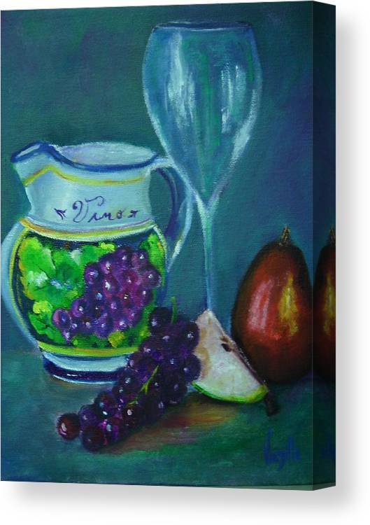 Tuscan Elements Italian Wine Pitcher With Fruit Canvas Print