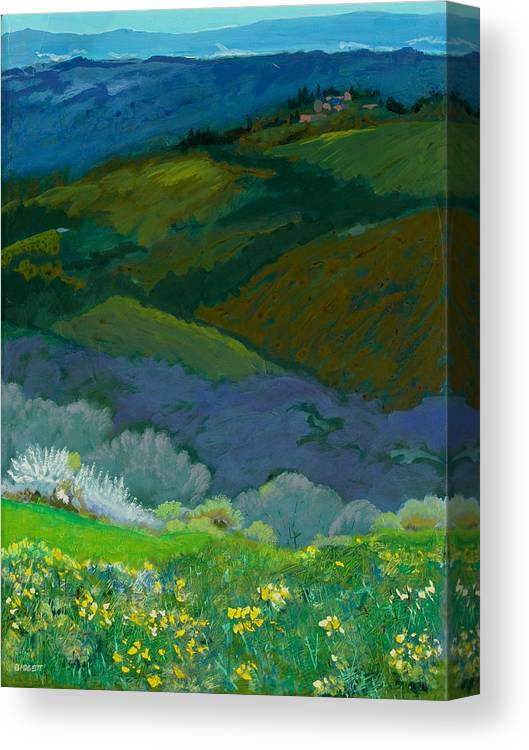 Landscape Canvas Print featuring the painting Tuscan Vista by Robert Bissett