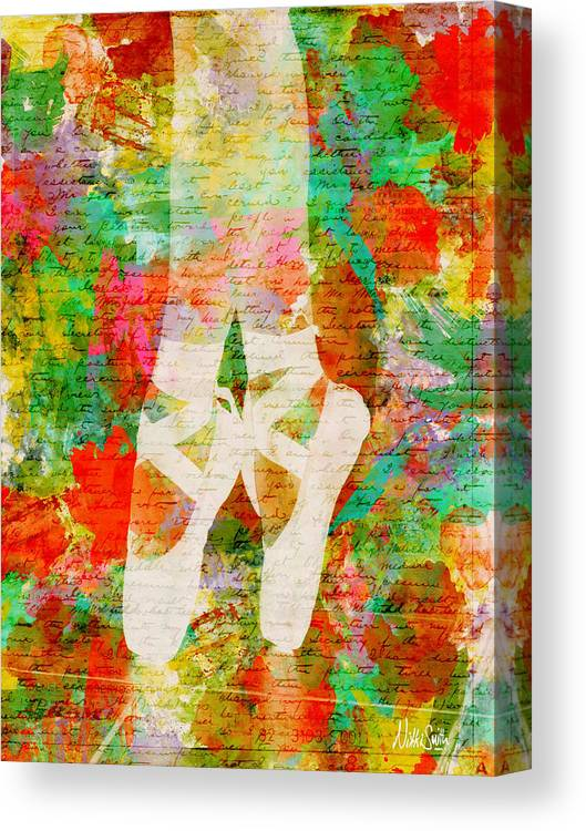 Ballet Canvas Print featuring the digital art Twinkle Toes by Nikki Marie Smith
