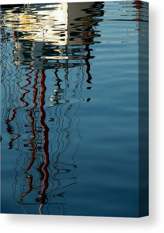 Ship Canvas Print featuring the photograph Upon Reflection by Tom LoPresti