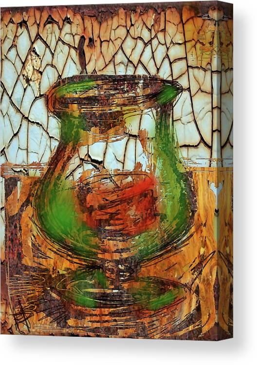 Vase Canvas Print featuring the digital art Vase And Candle by Russell Pierce