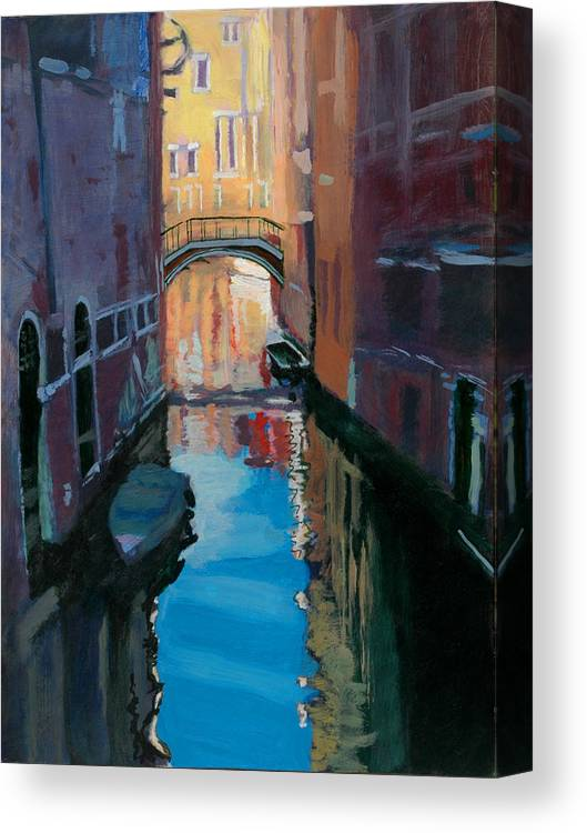 Venice Canvas Print featuring the painting Venice Canal by Robert Bissett