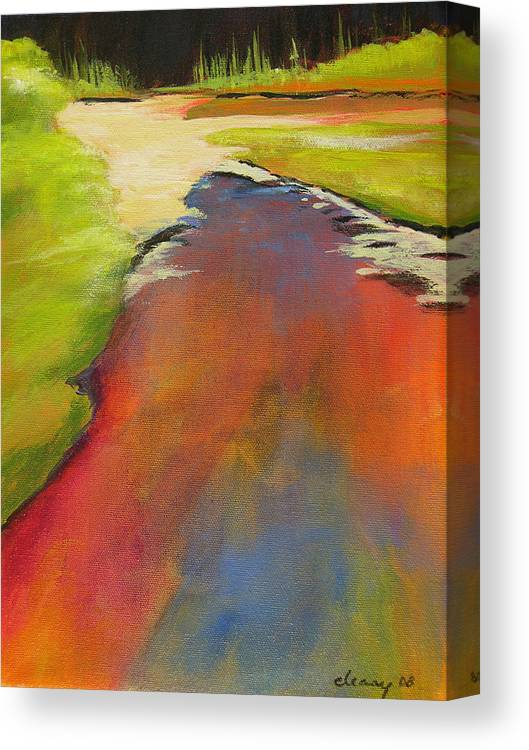 Landscape Canvas Print featuring the painting Water Garden Landscape 7 by Melody Cleary