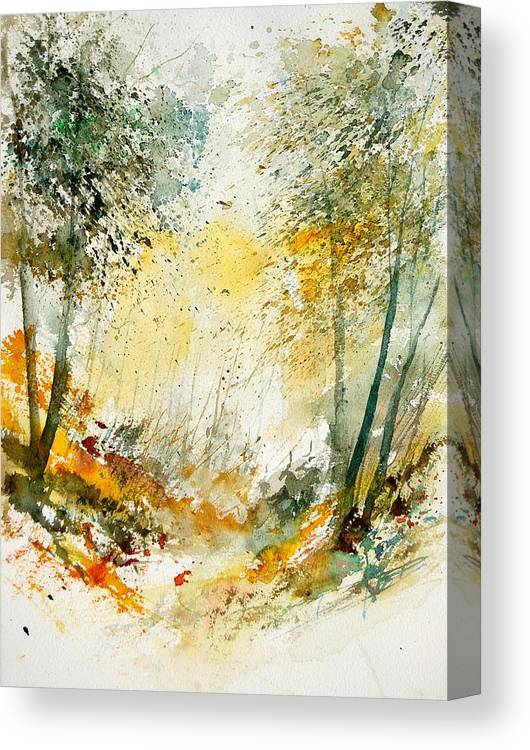 Tree Canvas Print featuring the painting Watercolor 908021 by Pol Ledent