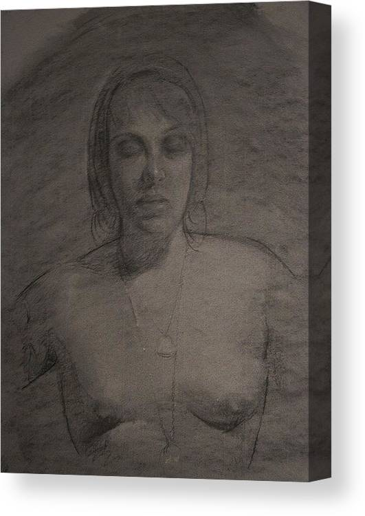 Michaellane Canvas Print featuring the drawing Wendy As Oracle by Michael Lane