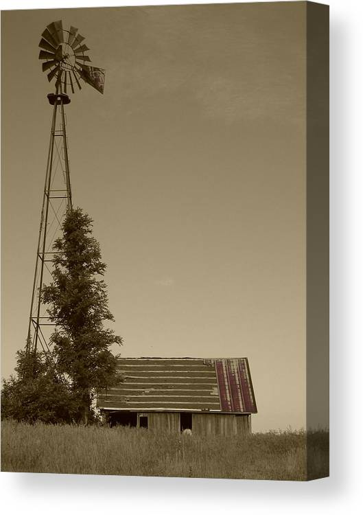 Landscape Canvas Print featuring the photograph Windmill II by Dylan Punke