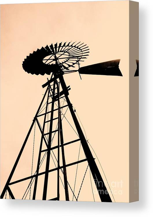 Windmills Canvas Print featuring the photograph Windmill Standing Tall by Christine Belt