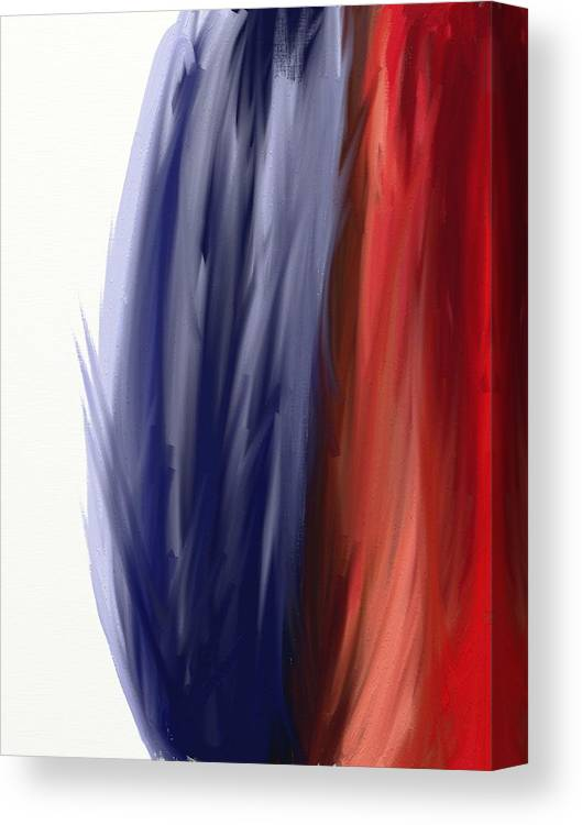 Abstract Canvas Print featuring the digital art Wing by Connie Kottmann
