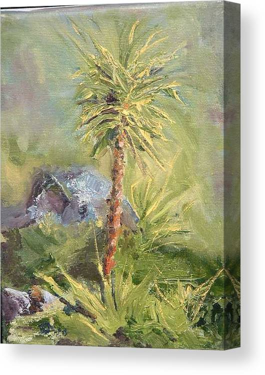 Yucca Canvas Print featuring the painting Yucca by Bryan Alexander