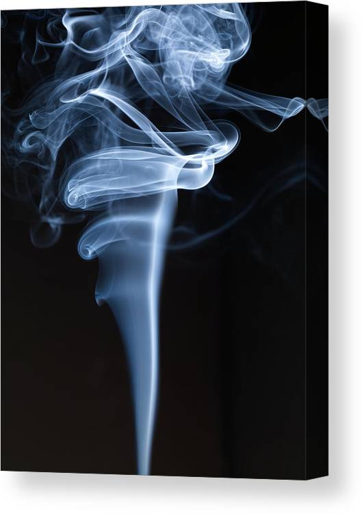 Black Background Canvas Print featuring the photograph Smoke by Level1studio