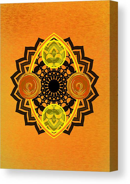 Sacred Geometry Canvas Print featuring the digital art Untitled by Giuseppe Barilla