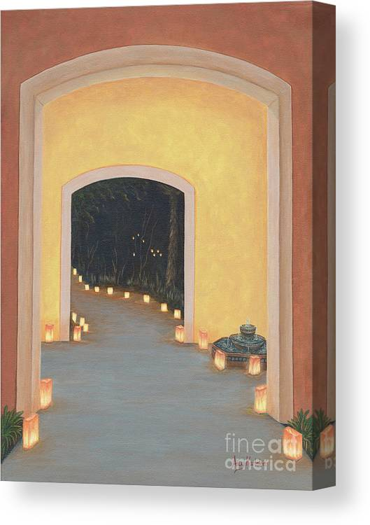 New Canvas Print featuring the painting Doorway To The Festival Of Lights by Aicy Karbstein