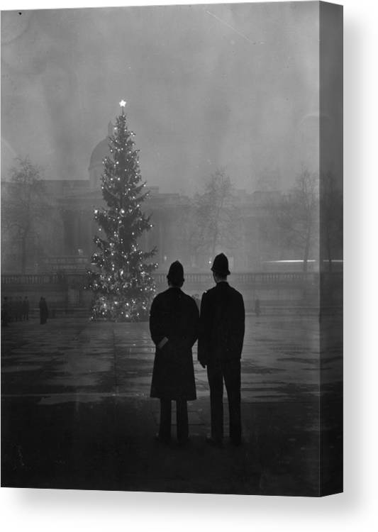 Mature Adult Canvas Print featuring the photograph Foggy Christmas by Warburton
