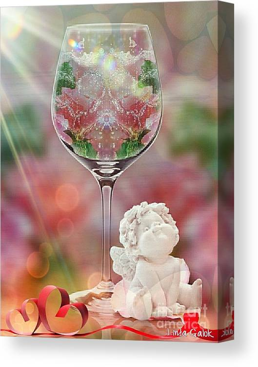 Valentine Canvas Print featuring the digital art Heavenly Valentine by Linda Galok