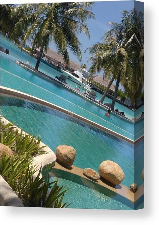 Water Canvas Print featuring the photograph Maldivies by Aswini Moraikat Surendran