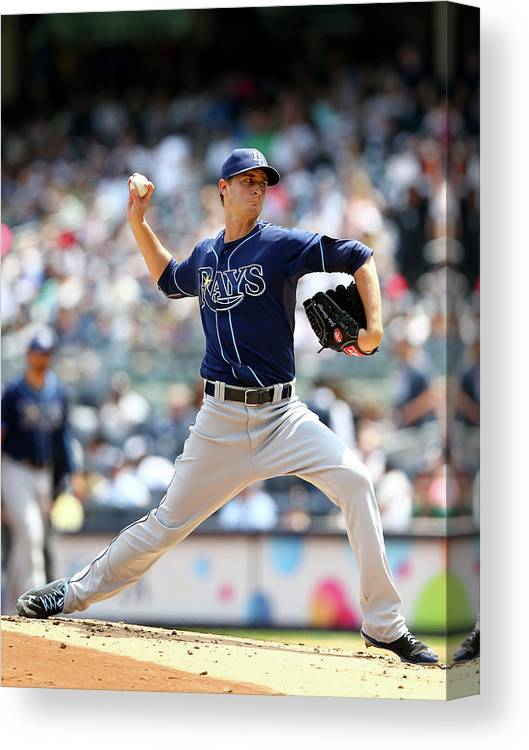 American League Baseball Canvas Print featuring the photograph Jake Odorizzi by Elsa