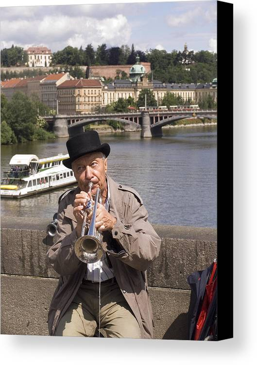 Prague Canvas Print featuring the photograph Rollin Or The River by Charles Ridgway