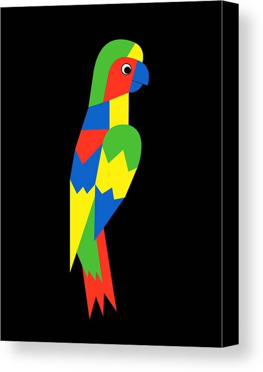Parrot Canvas Print featuring the digital art Parrot by Asbjorn Lonvig