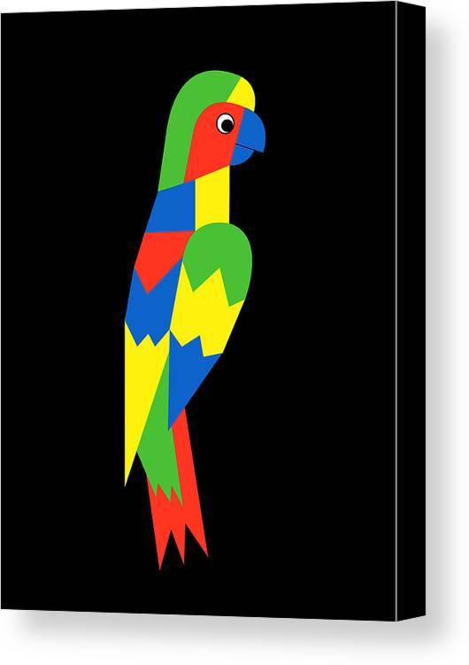 Parrot Canvas Print featuring the digital art Parrot by Asbjorn Lonvig