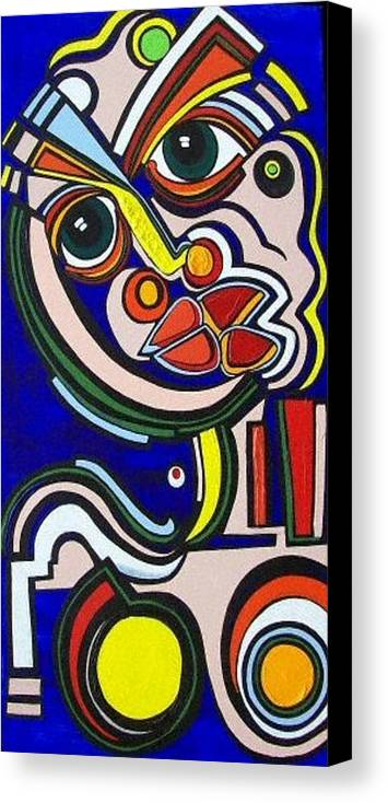 Abstract Canvas Print featuring the painting Intensity by Valerie Wolf