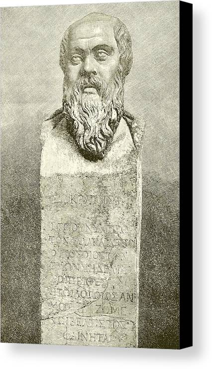 Ancient; Greece; Greek; Socrates; Socrates Canvas Print featuring the drawing Socrates by English School