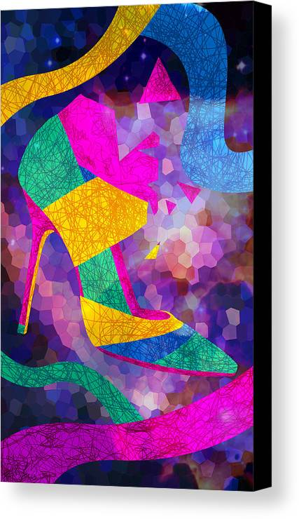High Heels Canvas Print featuring the drawing High Heels On Ropes by Kenal Louis