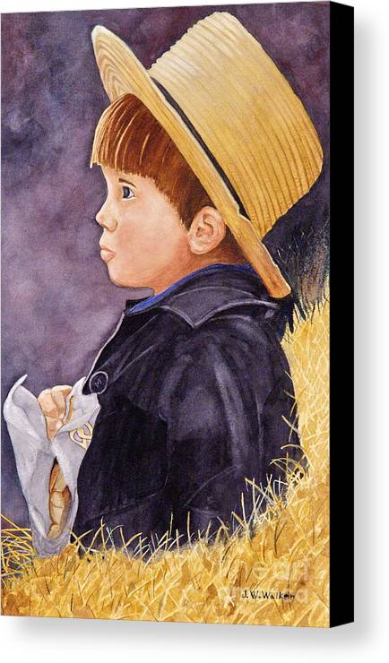 Innocence Canvas Print featuring the painting Innocence by John W Walker