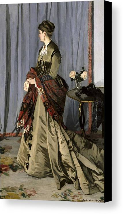 Vertical Canvas Print featuring the photograph Monet, Claude 1840-1926. Madame Louis by Everett