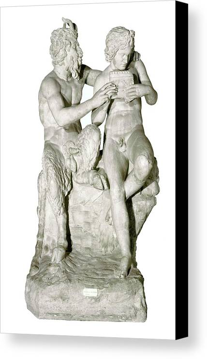 Vertical Canvas Print featuring the photograph Pan And Olympus. 4th-2nd C. Bc. Roman by Everett