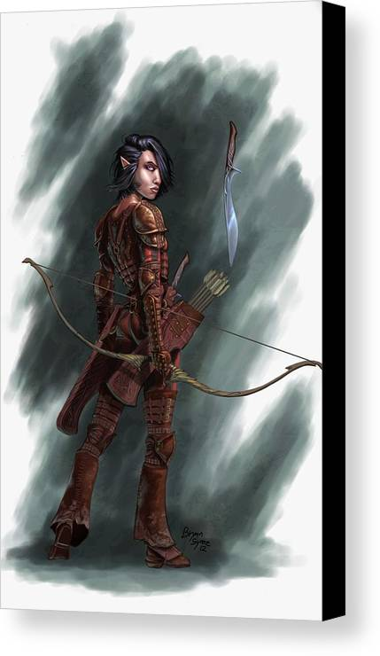 Archer Canvas Print featuring the digital art Rogue by Bryan Syme