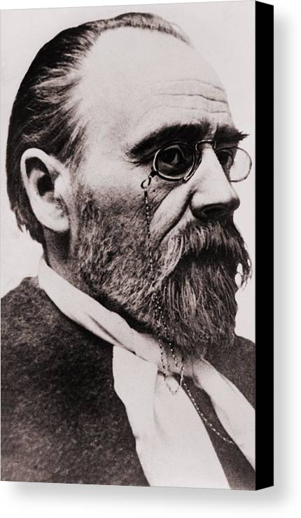 Historical Canvas Print featuring the photograph Emile Zola 1840-1902, French Novelist by Everett