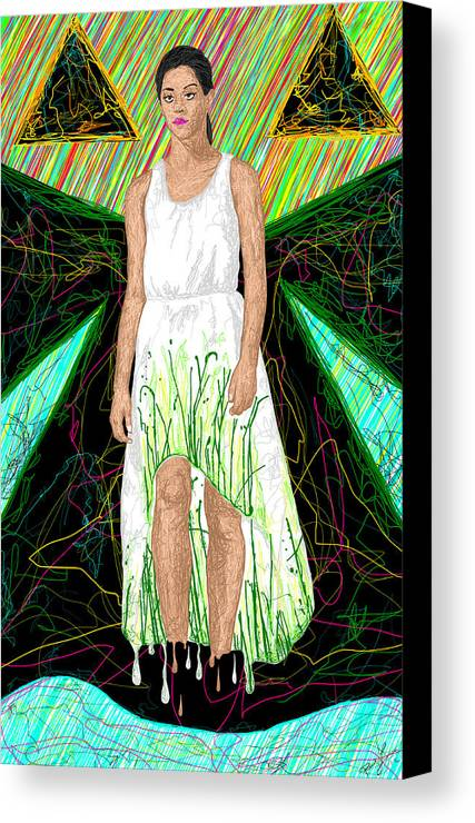 Fashion Art Canvas Print featuring the painting Fashion Abstraction De Jeff Hanson by Kenal Louis