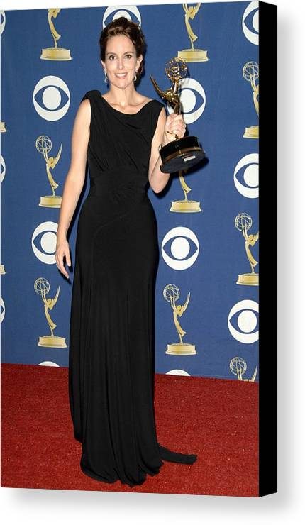 Tina Fey Wearing A Gucci Gown Canvas Print / Canvas Art by Everett