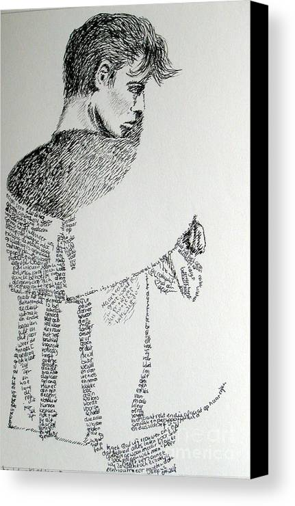Language Canvas Print featuring the drawing Language Of Cloth by Tanni Koens