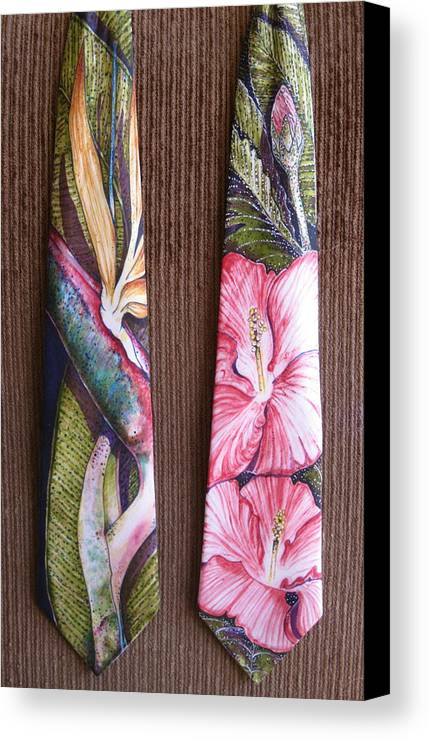 Floral Canvas Print featuring the painting Bird Of Paradise by David Kelly