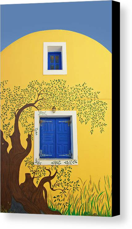House Canvas Print featuring the photograph Decorated House by Meirion Matthias