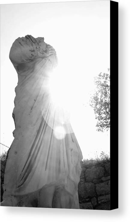 Statue Canvas Print featuring the photograph Ephesian Statue by Jennifer Kelly