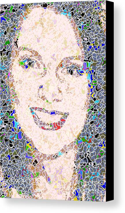 Portrait Canvas Print featuring the photograph Kath by Andy Mercer